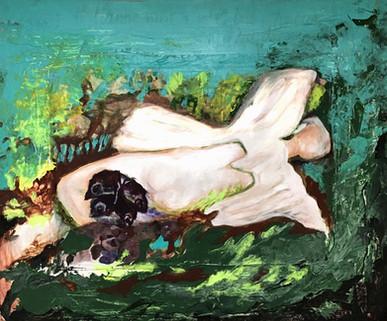 Amour jeté bas, 2012, acrylic on wood 80