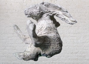 Hare, 2017, clay, 40cm