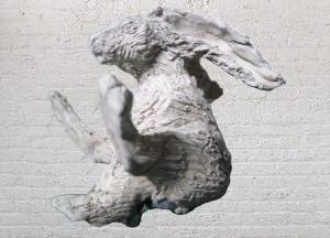 Hare, 2017, clay, 40cm