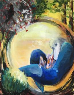 corona age, 2020, acrylic on canvas, 80x