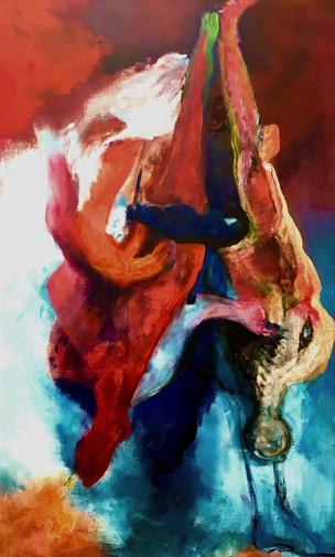 Triage, 2020, acrylic on canvas, 90x150