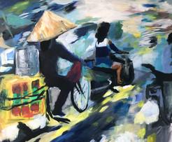 Hanoi, 2018, acrylic on canvas, 120x100