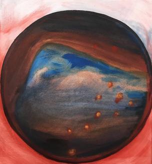 corona bubble2, acrylic on canvas, 30x40