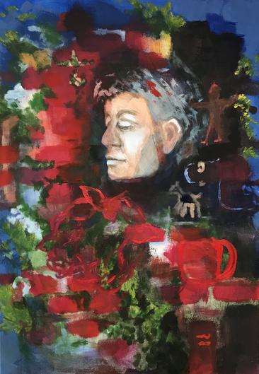 Treasures, 2020, acrylic on canvas, 80x1