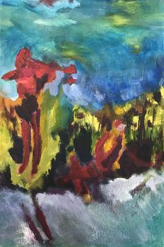 Undine joy, 2020, acrylic on canvas, 30x