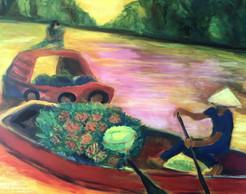 Mekong, 2018, acrylic on canvas, 100x80