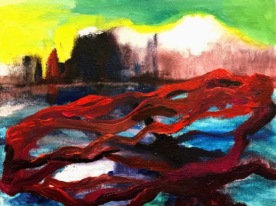 Undine 2, 2020, acrylic on canvas, 30x40