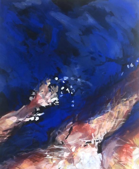 Teufelssee, 2017, acrylic on canvas, 50x