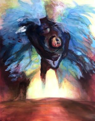 Icarus, 2018, acrylic on canvas, 80x100