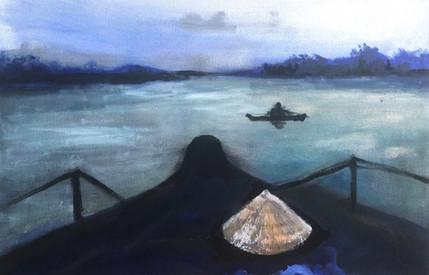 Mekong morning, 2018, acrylic on canvas,
