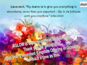 Kingdom Offering in October