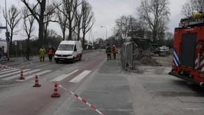 Korreweg afgesloten door gaslek