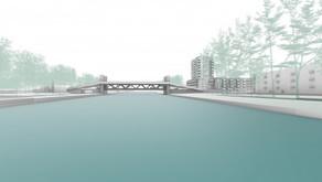 Pas ruim baan voor fietsers in 2026 op 9,7 meter hoge fietsloopbrug