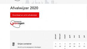 Afvalwijzer 2020 staat op onze website