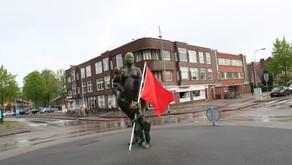 Minimale 1 mei demonstratie in Korrewegwijk