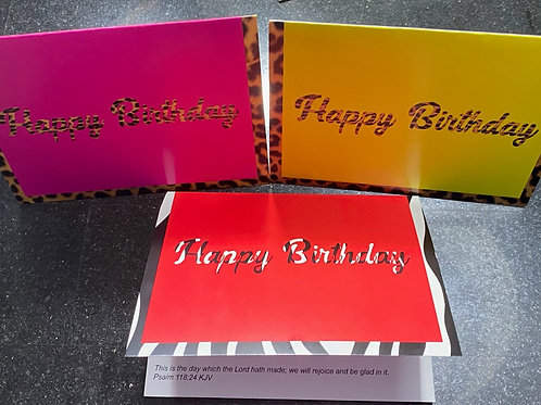 4X6 Multi-colored Birthday cards