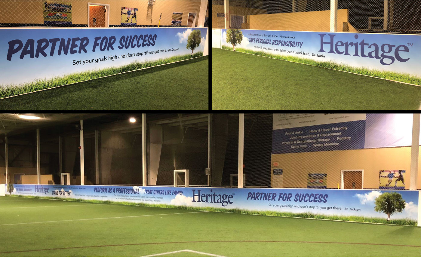 Wall Runner for Seacoast United Sports Complex in Hampton.