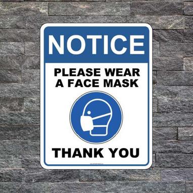 Wear a Mask signs