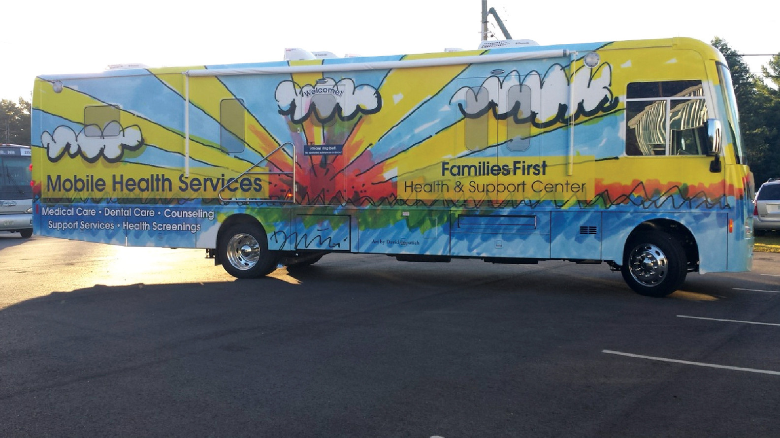Full Medical Bus Wrap