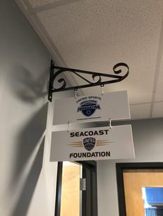 Interior PVC signage for the Seacoast United Foundation.