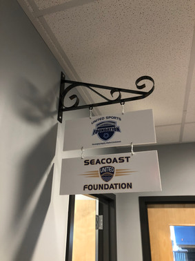 Interior PVC signage for the Seacoast United Foundation.