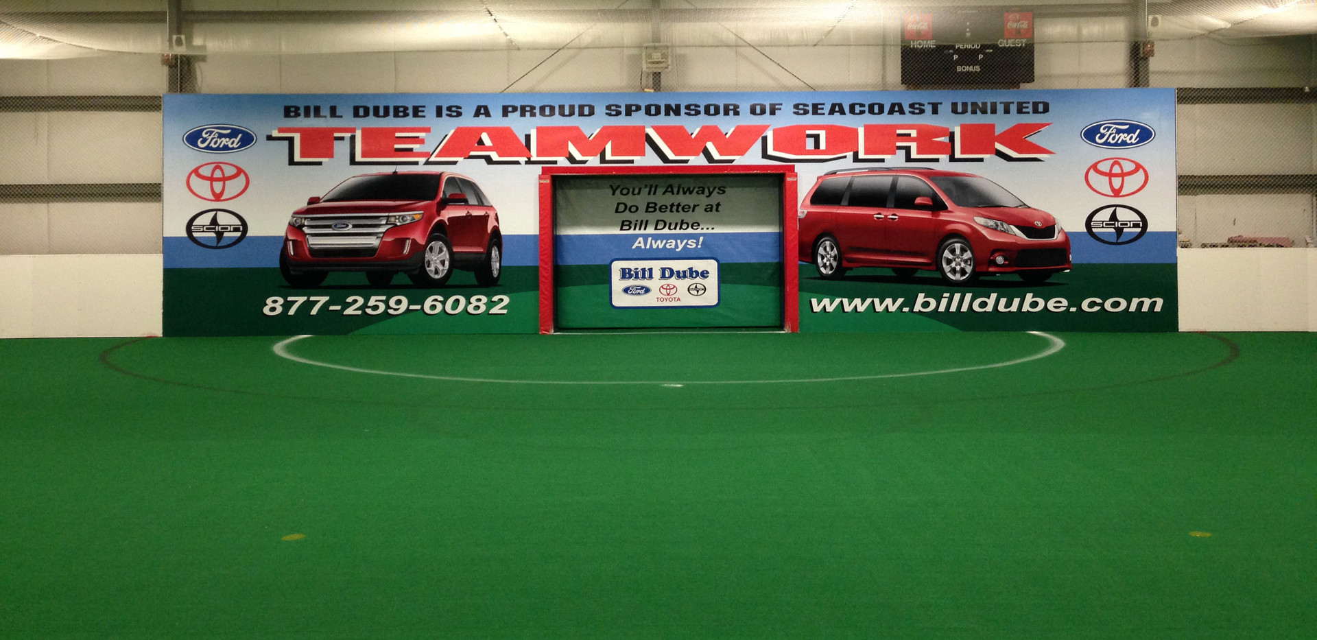 Goal wrap at Seacoast United Sports Center.