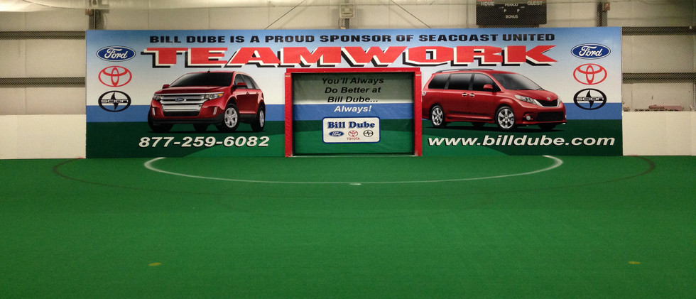 Goal wrap at Seacoast United Sports Center.