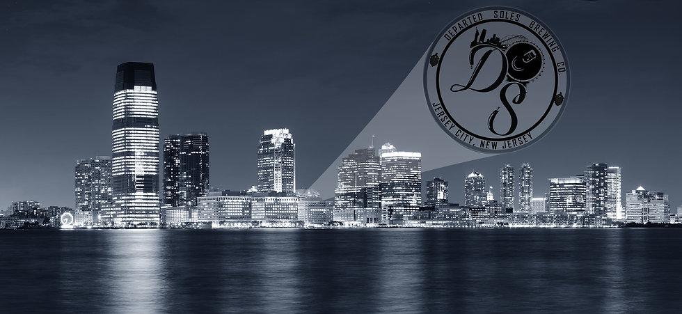 Jersey city skyline batman bat signal.jp