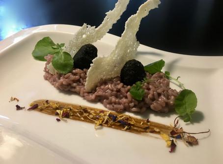 Barolo-Risotto With black truffle Beignets