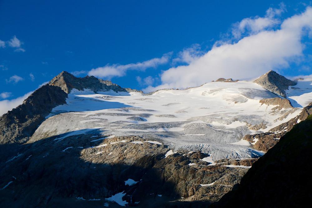 Sonnenaufgang am Gletscher