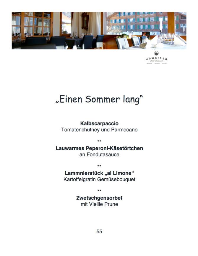 """Einen Sommer lang"""