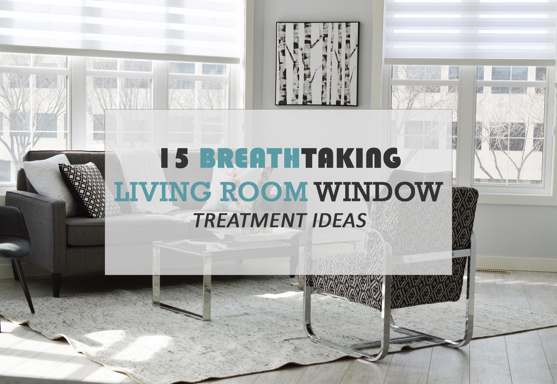 15 Breathtaking Living Room Window Treatment Ideas
