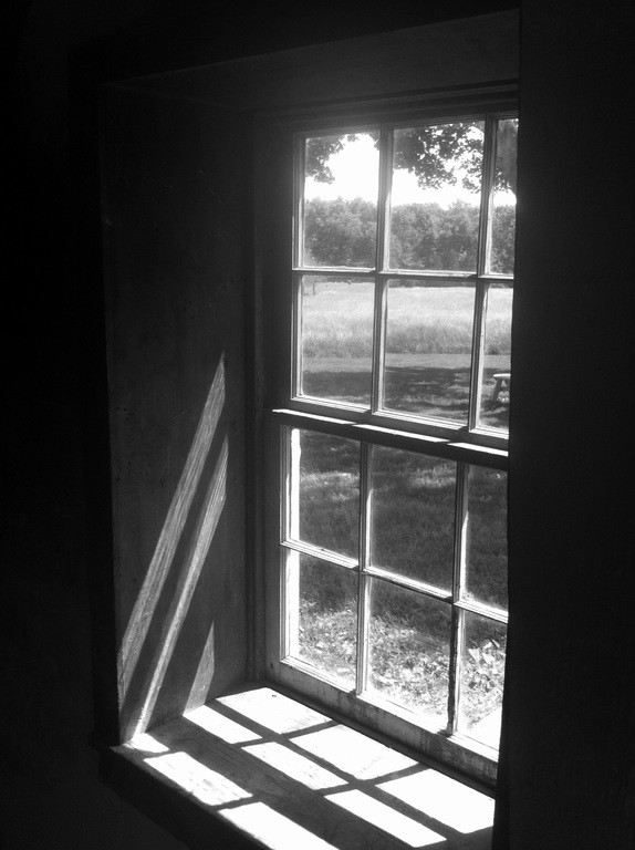 Black and white window letting light through