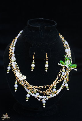 Princess and the Frog Couture Necklace & Earrings