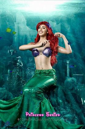 Ariel Little Mermaid Costume with Foam Shells