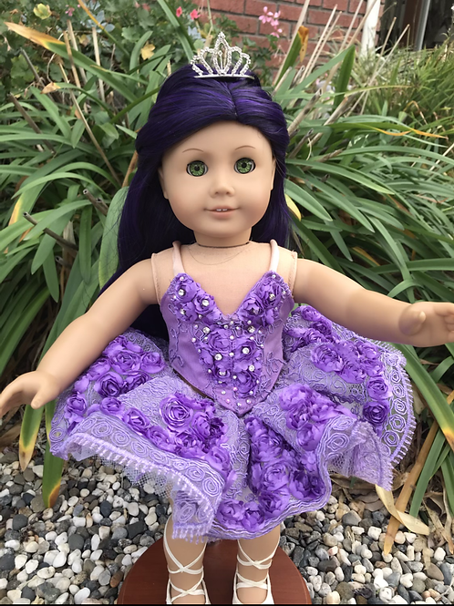 Doll Crown - Jeweled Tiara Comb