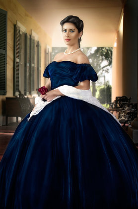 Scarlett OHara Gone with the Wind Blue Gown