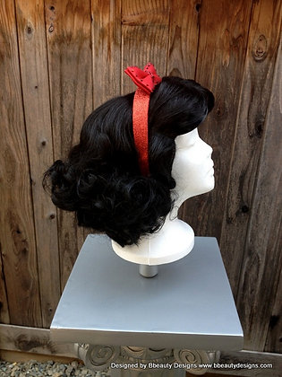 Snow White Inspired Cosplay Wig with Headband
