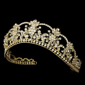 Anastasia Bridal Gold Royal Crown
