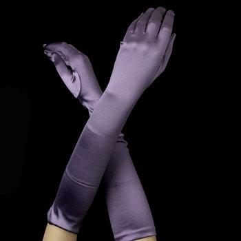 Satin Gloves - Victorian Lavender