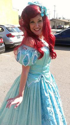 Ariel Mermaid Aqua Sea Foam Park Dress Costume (A)