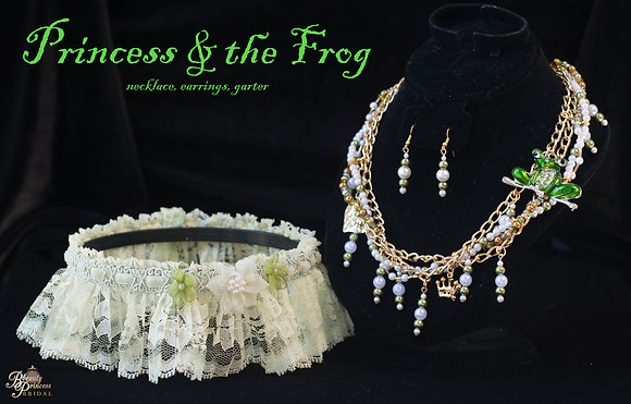 Princess and the Frog Garter and Necklace Set
