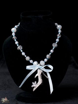 Cinderella Glass Slipper Couture Necklace