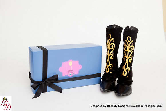 Anna Inspired Embroidered Spats and Boots