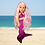 Thumbnail: Fuschia Pink Mermaid Outfit in Rainbow Fish Scale