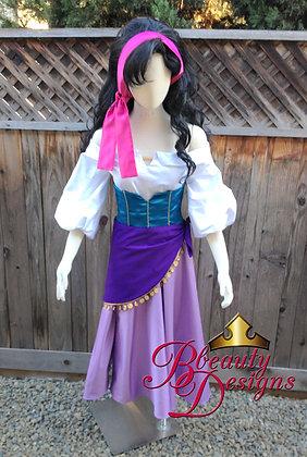 Esmeralda Hunchback of Notre Dame Gypsy Costume