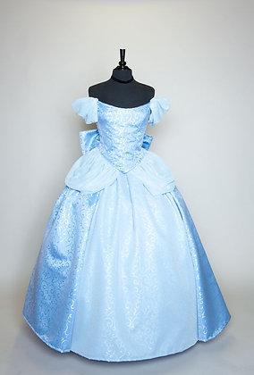 Cinderella New 2012 Park Swirl Gown Blue Sleeves