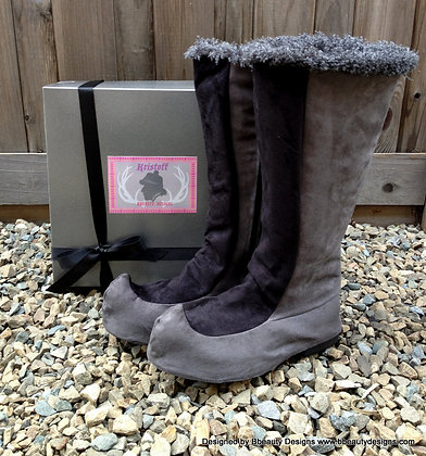 Kristoff Grey/Black Inspired Spats and Boots