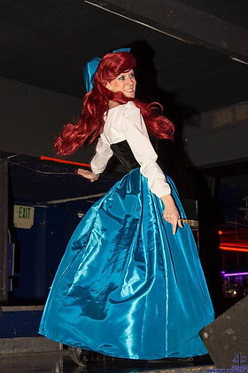 Ariel Kiss the Girl in Taffeta with Bow Costume(A)