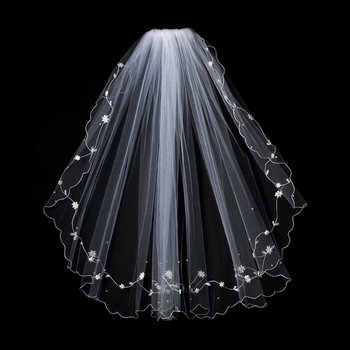 Maid Marion Single Layer Embroidered Veil